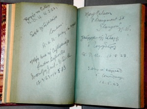Two pages in the Autograph book of Mary Twamley (Kilmainham Gaol Archive)