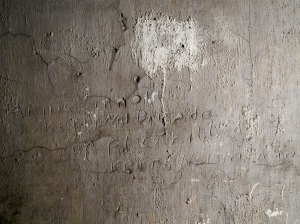 Including this example of engraved graffiti created by Annie Sinnott that twice referenced the 'Kerry No 1 Brigade' located in a cell on Corridor 3 of the middle floor.