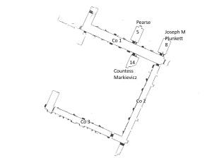 Plan of Middle Floor West Wing Kilmainham Gaol